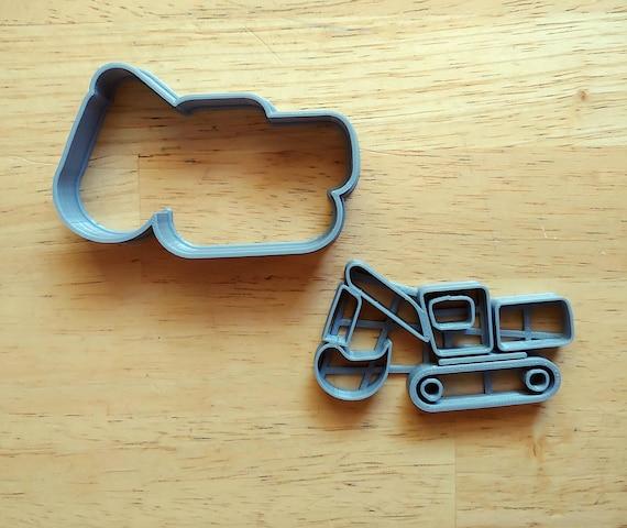 2 Piece Excavator Cookie Cutter