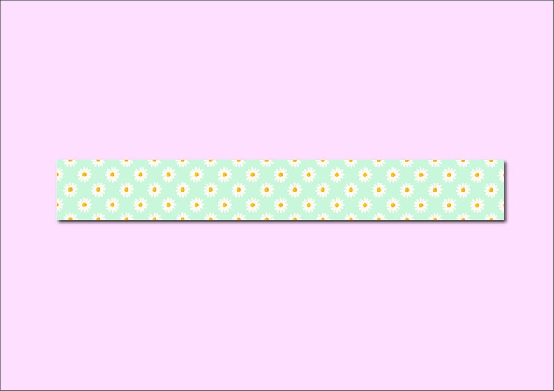 WASHI TAPE DAISIES  daisy flower spring snailmail post stationary bullet journal planner  onlyhappythings
