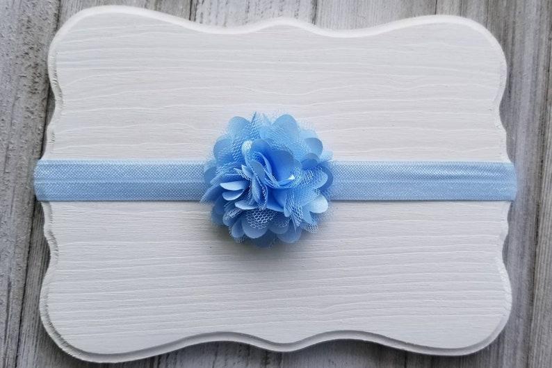 Baby Bows Baby Headbands Blue Headband Toddler Headbands Infant Headbands Child Headbands Simple Baby Headbands