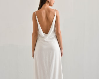 Slip Wedding Dress Etsy