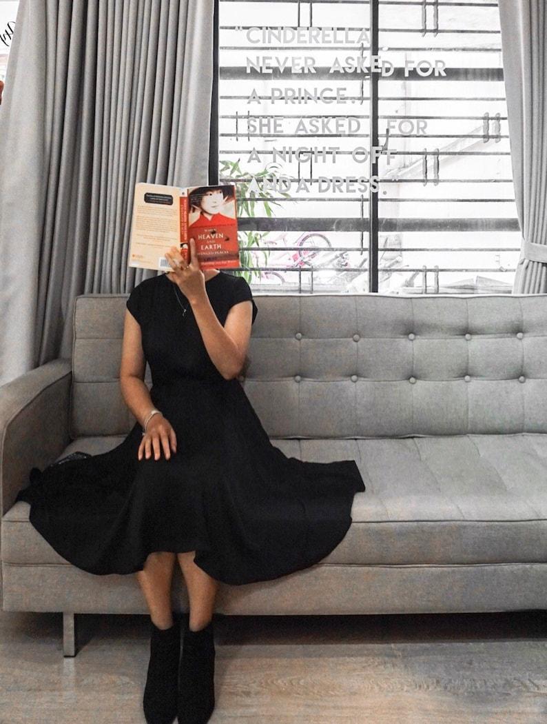 38cd9f9ec5 Kayla Little Black Dress Travel dress Simple Sleeves Dress