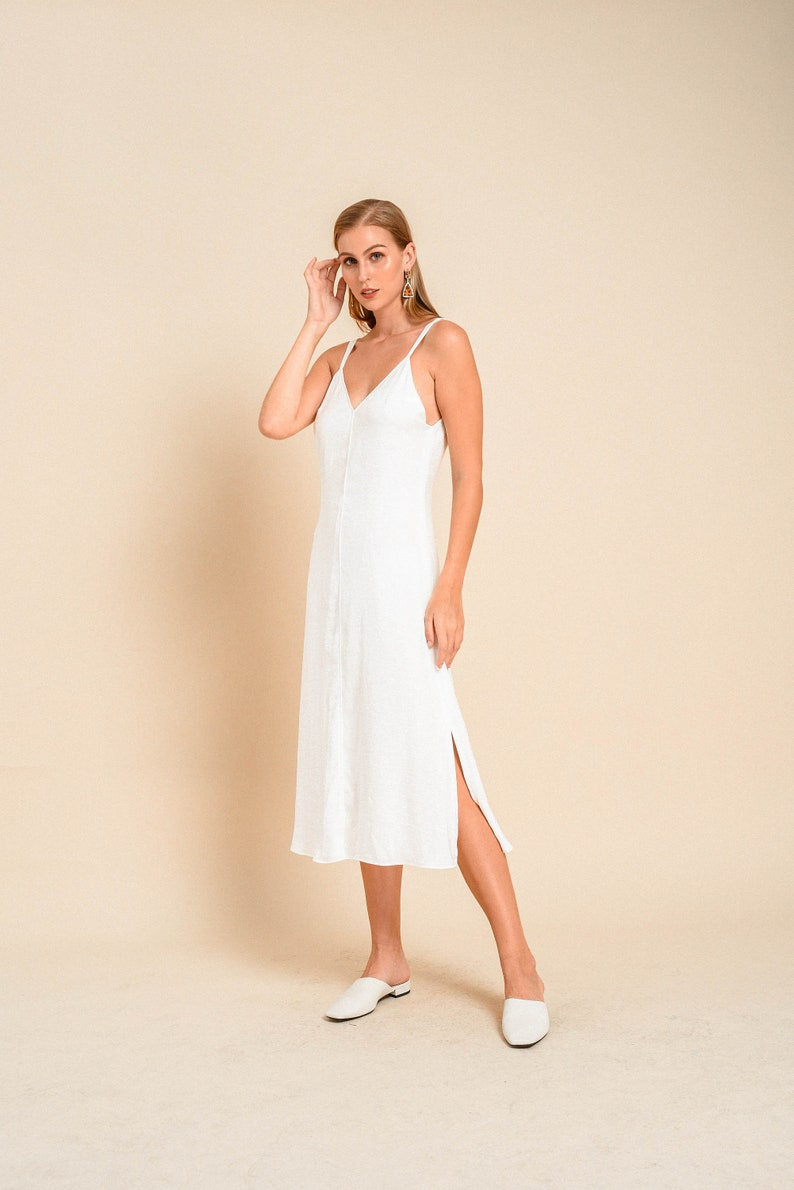 48b790afae34e Lou Slip Dress Silk Slip Dress Simple Wedding Dress | Etsy
