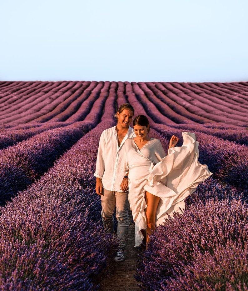 Julia Satin Wrap Dress / Silk Satin Ruffle Wrap Dress / White image 0