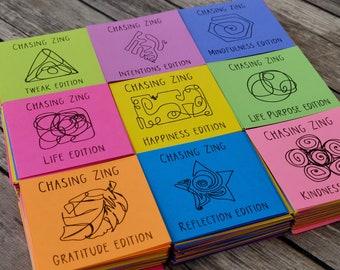 Manifestation Planner Journal Prompts Bundle - Printable Self Care Mindfulness Cards for Manifesting Happiness and a Positive Mindset