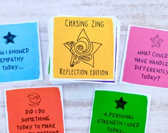 End of Day Reflection Cards for Manifesting Positivity - COLOR VERSION - Inspirational Cards - Motivational Cards - Journal Cards
