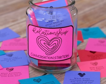 Relationship Question Cards and Conversation Starters: Talk about Love, Goals, and Creating a Stronger Relationship