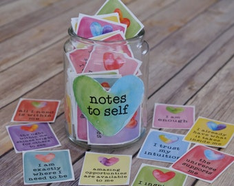 Self Love Self Care Affirmation and Positive Thinking Cards - Printable Positive Mantras for Reflection, Meditation and Vision Boards