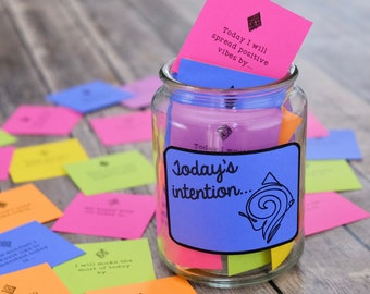Setting Intentions Motivational Reflection Cards, Conversation Starters, and Journal Prompts