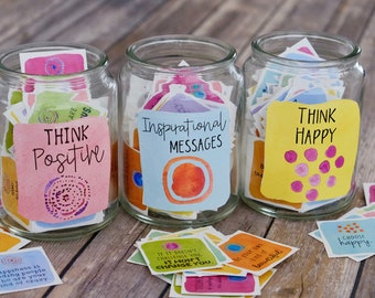 Printable Positive Message Inspirational Cards - Motivational Cards - 3 Set BUNDLE - Positive Quotes - Lunch Box Notes and Care Packages