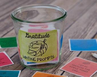 Gratitude Journal Prompts - Conversation Starters - Family Dinner Conversation Cards - Inspirational Cards - COLOR VERSION