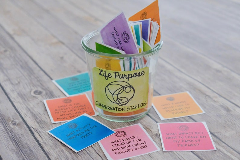 Life Purpose Self Discovery Reflection Cards  Inspirational image 0