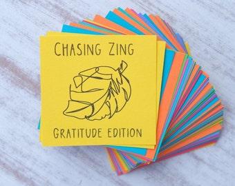 Gratitude Journal Prompts - Conversation Starters - Family Dinner Conversation Cards - Inspirational Cards - Instant Download - Black Ink