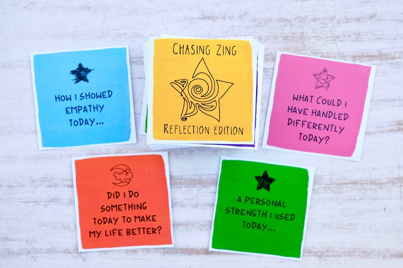 End of Day Reflection Cards for Manifesting Positivity  COLOR image 0
