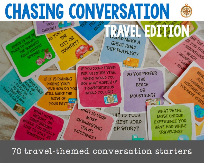 Travel Conversation Starters  Watercolor Edition  Party image 0