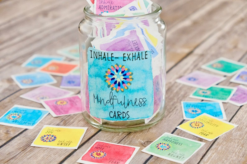 Inhale Exhale Mindfulness and Meditation Cards  Printable image 0