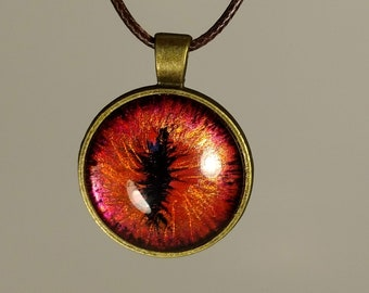 Red Gold Dragon eye Necklace