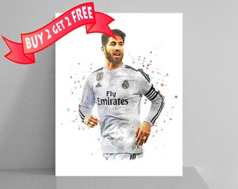Sergio Ramos Garcia Real Madrid 2018 Print Ramos Poster Real Madrid Art  Football Wall Decor Soccer Art UEFA Super Cup FIFA Sport Wall Decor 35cd26574f