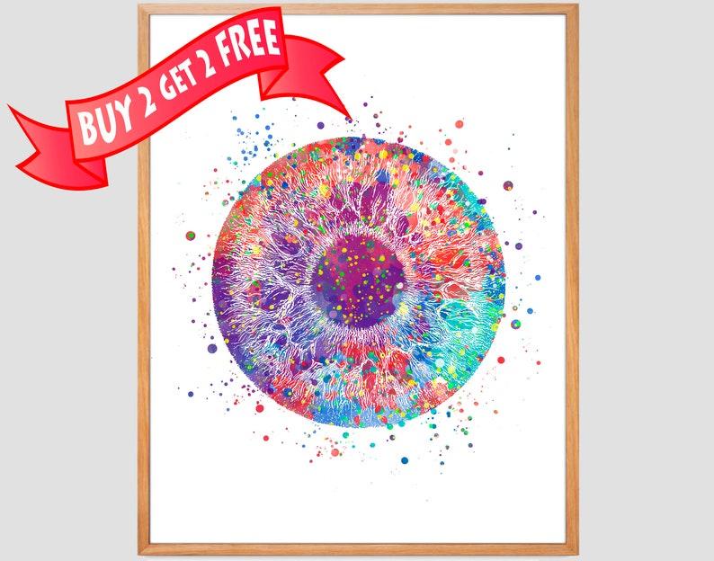 Human Eye Print Anatomy Art Pupil Poster Ophthalmology Etsy