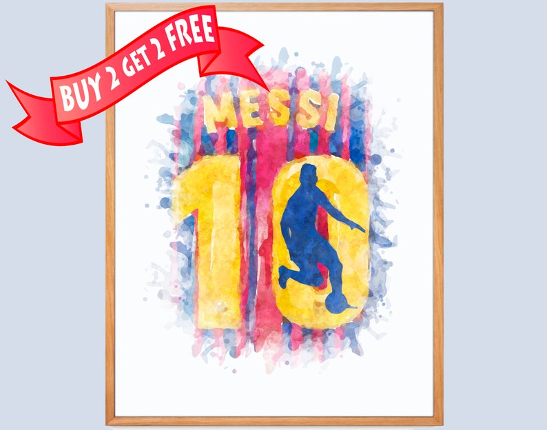 1aaad45cb1b Lionel Messi Print FC Barcelona Players Lionel Messi Number 10