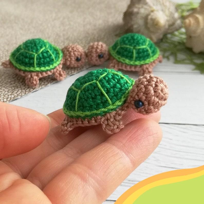 Crochet tiny turtle Pattern Amigurumi baby turtle PDF image 7