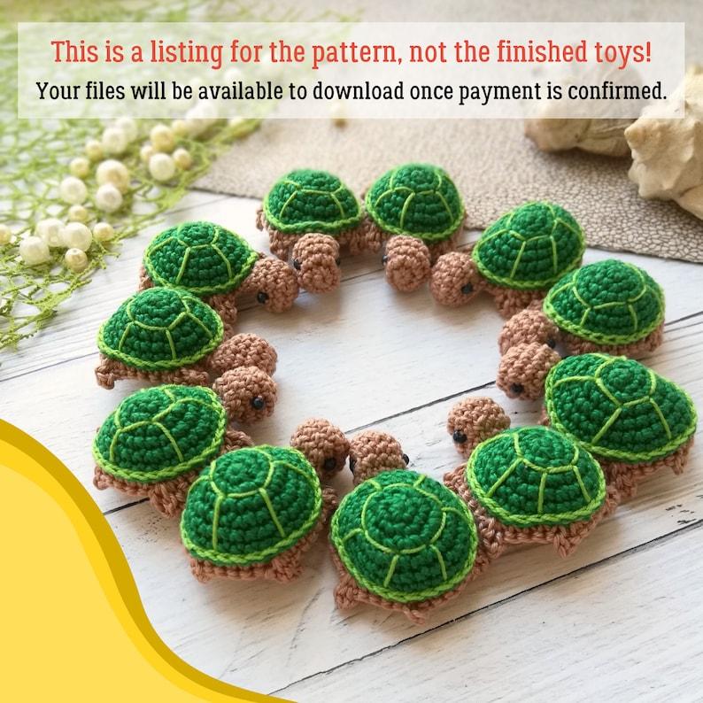 Crochet tiny turtle Pattern Amigurumi baby turtle PDF image 2