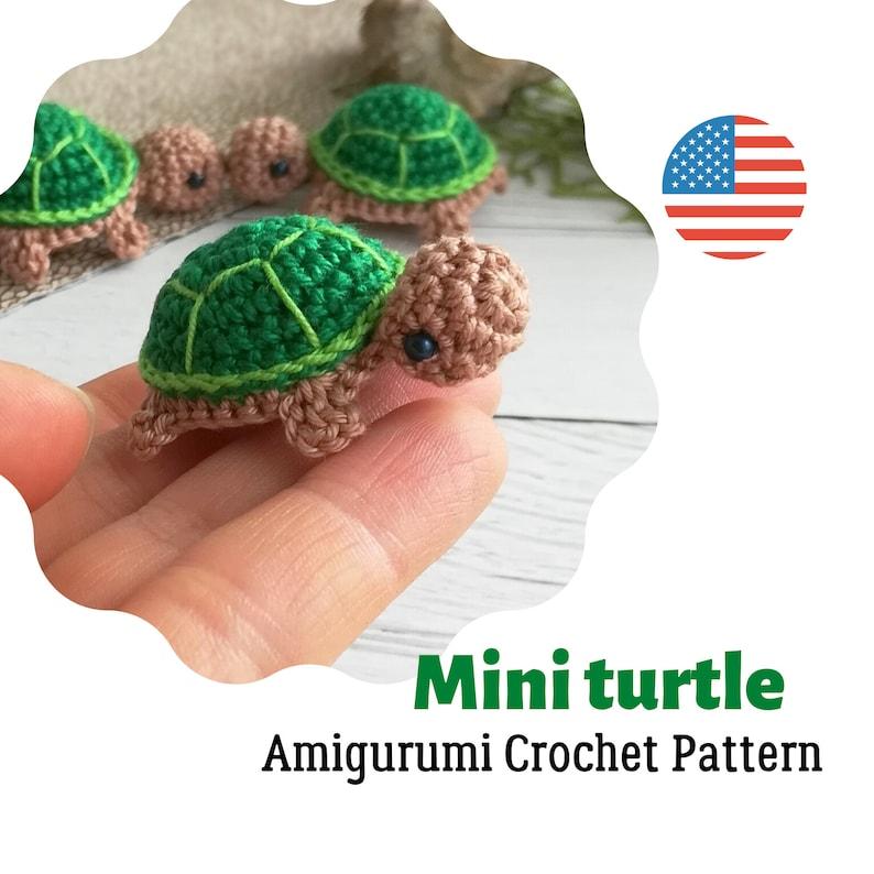 Crochet tiny turtle Pattern Amigurumi baby turtle PDF image 0