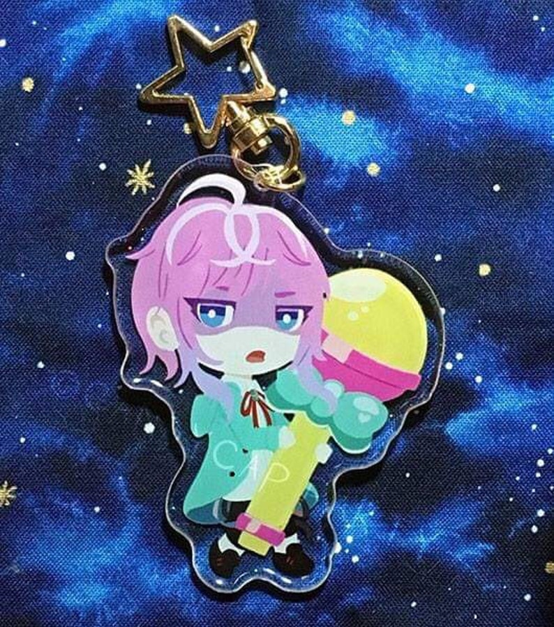 Hypnosis Mic Double Sided 3 Inch Acrylic Charms with Glitter Epoxy (Ramuda  and Jakurai)