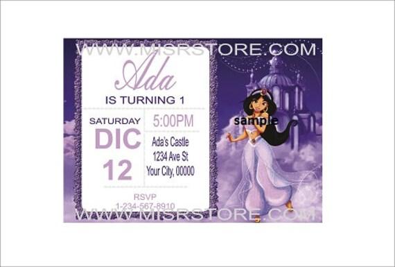 12 Imprime Princesse Invitation Invitation Princesse Jasmine