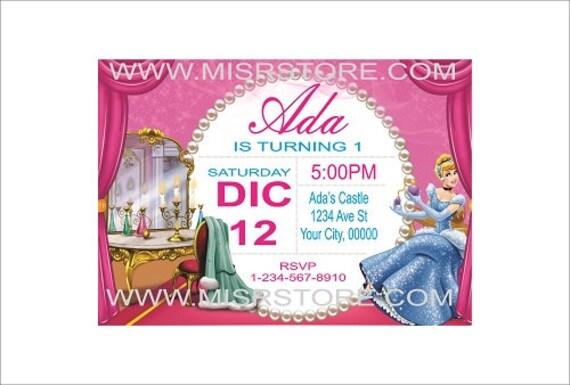 12 Imprime Princesse Invitation Invitation Princesse Cendrillon