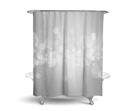 Gray Shower Curtain Bathroom Black And White