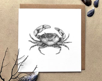 Freshwater Crab Illustrated Greetings Card