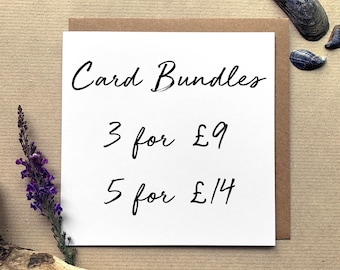 Mix & Match Illustrated Greetings Card Bundles