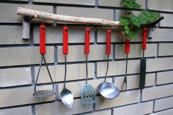 Wooden Kitchen Accessories Wall Organizer Wood Kitchen Etsy
