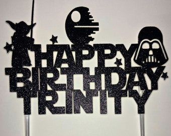 Star Wars Birthday cake topper 1098 Star Wars Party,Star Wars Silhouette Luke Skywalker cake topper Star Wars cake topper