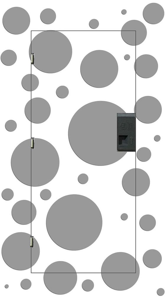 Grey Circles On White Decorative Electrical Panel Fuse Box Etsy