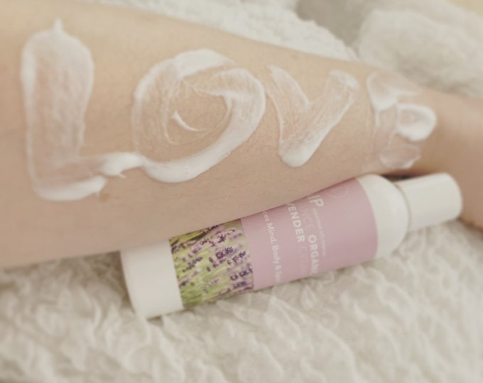 Featured listing image: Lavender Body and hand cream, homemade cream, Natural cream, 100% Pure essential oil cream, 4oz
