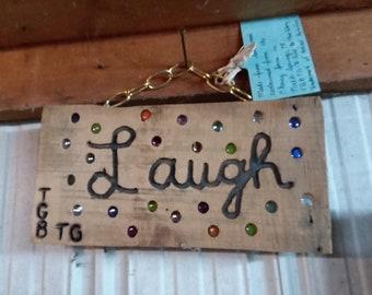 Laugh window hanger