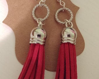 Leather Tassle Earrings by 1BlessedNest