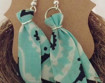 Teal Bandana Earrings by 1BlessedNest