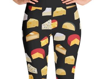 Cheese Yoga Leggings - Food Fight Apparel