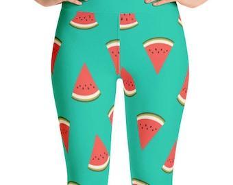 Watermelon Yoga Leggings - Food Fight Apparel