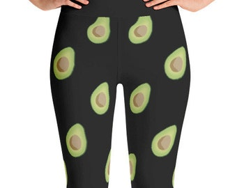 Avocado Yoga Leggings - Food Fight Apparel