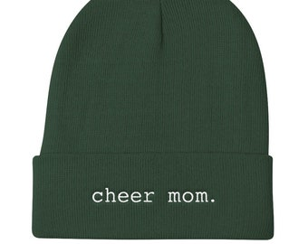 Cheer Mom Knit Beanie for Cheerleading Season
