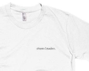 cheerleader. Embroidered T-Shirt