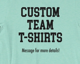 Custom Cheer Team Shirts for Practice/Games/Events