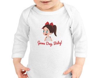 Game Day Baby Cheer Longsleeve Infant Bodysuit