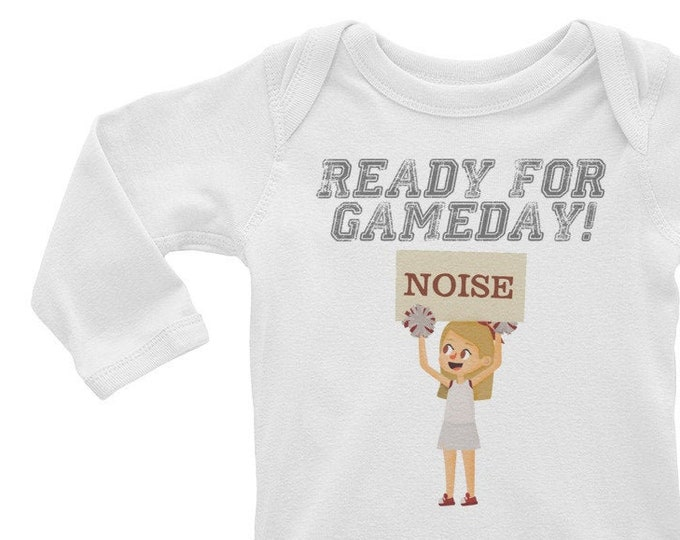 Ready for Gameday Baby Long Sleeve Bodysuit for Football Season