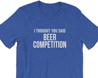 Cheer Dad Beer Competition T-Shirt