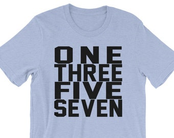 One Three Five Seven - Eight Count Cheer T-Shirt