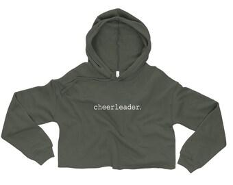Cheerleader Crop Hoodie (Cheer Boutique)